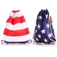 Молодежный рюкзак-мешок американский флаг Poolparty sack usa
