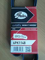 Ремень генератора (аксессуаров)6PK1148 моторG9U, 2,5DcI  без кондиционера