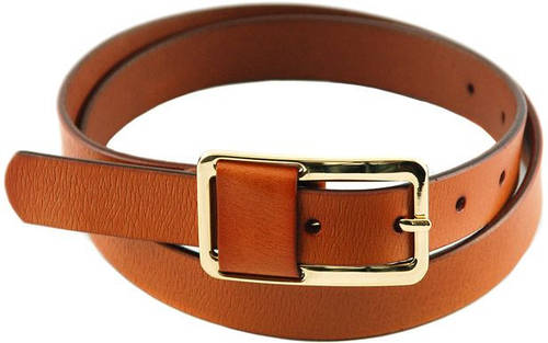 Женский элегантный узкий кожаный ремень 2 см. Traum 8825-22, коричневый
