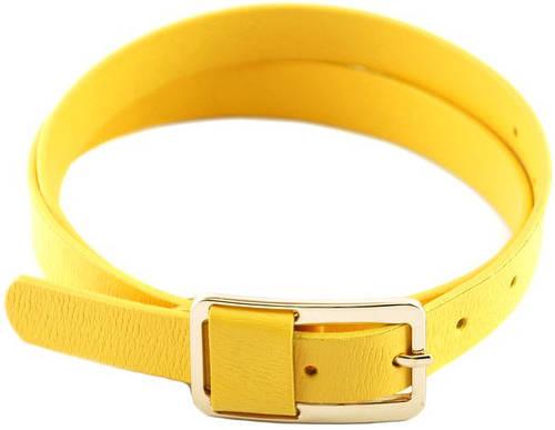 Женский узкий кожаный ремень 2 см. Traum 8825-23, желтый