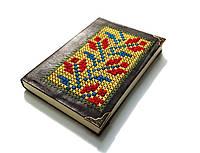 Блокнот из натуральной кожи с вышивкой ручная работа