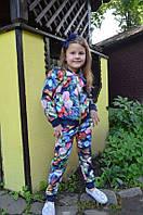 """Детский брючный костюм для девочки  """"Цветы"""".р. 86-116"""