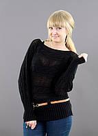 Классический свитер летучая мышь