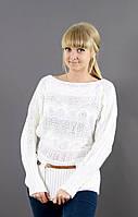 Белоснежны свитер под пояс, фото 1