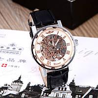 Механические часы Winner Skeleton gold-silver
