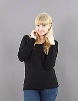 Черный свитер прямого кроя, фото 1