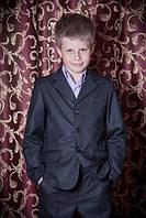 Костюм на мальчика в школу темно серый