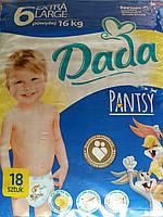 Одноразовые детские трусики Dada 6 (16+кг) 18 шт.