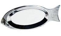 Блюдо для рыбы 35см из нержавеющей стали Kamille (a4338)