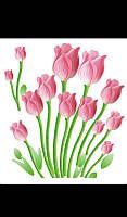 Наклейка на стену Романтические тюльпаны 60*70см