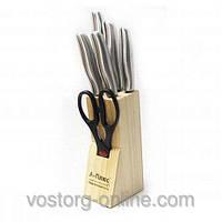 Набор кухонных ножей А-плюс, ножи KF-1006, кухонные приборы, ноборы ножей + ножницы