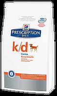 Лечебный корм для собак при сердечной и почечной недостаточности Hills Diet k/d