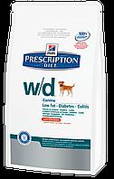 Лечебный корм для собак с ожирением, сахарным диабетом Hills Diet w/d