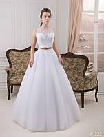 Чрезвычайно модный свадебный комплект с короткого топа и пышной юбки