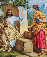 """Набор для вышивки крестиком икона """"Иисус Христос и самаритеанка"""""""
