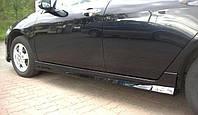 Накладки на пороги тюнинг обвес Honda Accord 7 стиль Type-R