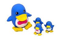 Набор игрушек ― пищалок Пингвин с пингвинятами S138x4
