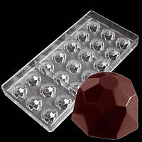 Бриллиант поликарбонатная форма для шоколадных конфет