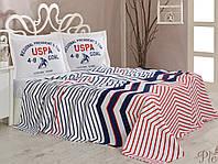 Постельное белье U. S. Polo Assn с простыней Пике 160х220 DRIGGS
