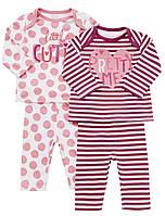 Пижамы детские с длинным рукавом для девочек  F&F (Tesco, Англия)