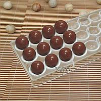 Полусфера гладкая поликарбонатная форма для шоколадных конфет