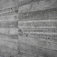 Стеновая 3D панель След грубой доски