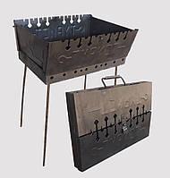 Мангал Турист разборной двухуровневый 8 шампуров (мангал-чемодан)