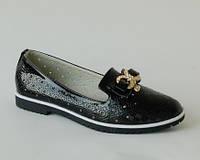 Лаковые туфли для девочки, W.Niko черные, 31-37
