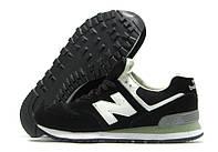 Кроссовки мужские New Balance черные с белым (нью беленс)
