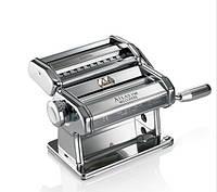 Тестораскаточная машинка-лапшерезка ручная для дома тестораскатка Marcato Atlas 150 mm Италия