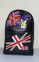 Городской рюкзак из кожзама с британским флагом