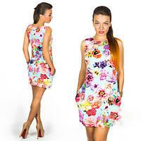 Платье женское  цветочный принт, фото 1