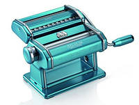 Паста-машина для приготовления лапши и нарезки теста (лапшерезка) Marcato Atlas 150 Azzurro голубой