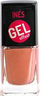 Лак для ногтей с гель эффектом INES Gel Effect №01 перламутровый нежный капучино