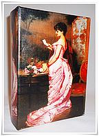 """Шкатулка ретро """"Дама в розовом платье"""""""