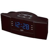 Часы сетевые 907-5 синие, радио FM