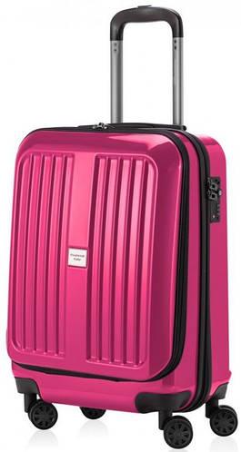 Яркий розовый чемодан на 4-х колесах HAUPTSTADTKOFFER xberg mini magenta, пластик, 42 л.