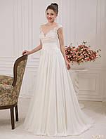 Романтическое свадебное платье с роскошной аппликацией из пайеток на лифе