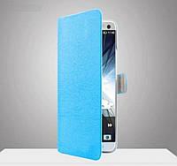 Чехол книжка для Lenovo A850, синий цвет