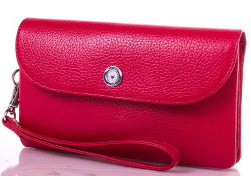 Женский стильный кожаный клатч KARYA (КАРИЯ) SHI1121-1FL Красный