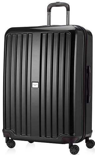 Огромный черный чемодан на 4-х колесах HAUPTSTADTKOFFER xberg maxi black, пластик, 126 л.