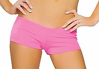 Облегающие ярко-розовые шортики для pole dance, go-go