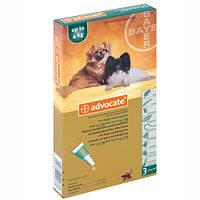 Advocate (Адвокат) средство против паразитов для собак до 4 кг 1 пипетка
