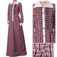 Платье-рубашка в клетку 4 цвета