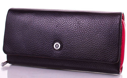 Женский оригинальный черный кожаный кошелек KARYA (КАРИЯ) SHI1131-2FL