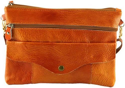 Необычная женский клатч из натуральной кожи Traum 7320-02, коричневый