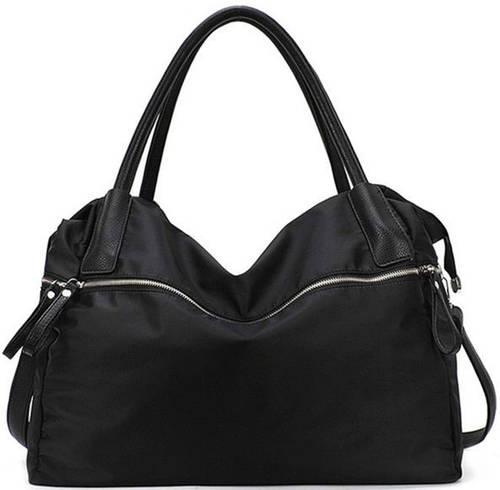 Красивая женская сумка из нейлона Traum 7214-10, черный