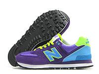 Кроссовки женские New Balance фиолетовые с голубым (нью беленс)