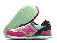 Кроссовки женские New Balance розовые (нью беленс)