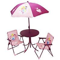 Детский пляжный столик с двумя стульчиками Baby Tilly B18353 Лягушка, Принцессы (наличие вида уточняйте)